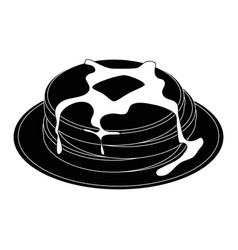 plate with pancakes icon vector image