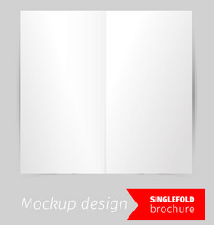 single fold brochure mockup design vector image