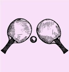 tennis ping-pong vector image