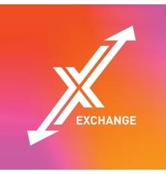 Arrow logo letter X logo design template vector image vector image