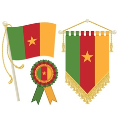 cameroon flags vector image vector image
