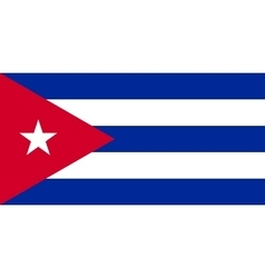 Flag of cuba in correct proportions and colors vector