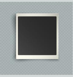 retro realistic vertical blank instant photo vector image