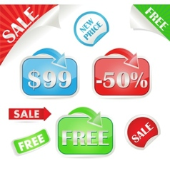 set of sale and promo stickers vector image