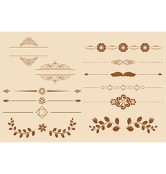 set of vintage delimiters vector image vector image