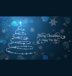 christmas wallpaper with snowflakes christmas vector image