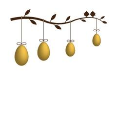 Golden eggs vector image vector image