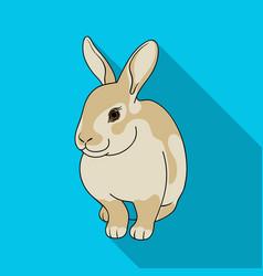 gray rabbitanimals single icon in flat style vector image vector image