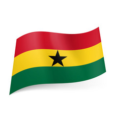 national flag of ghana red yellow and green vector image vector image