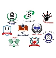 Team sports emblems and logo vector image