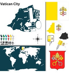 Vatican City map vector image