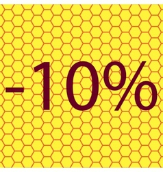 10 percent discount icon symbol Flat modern web vector image