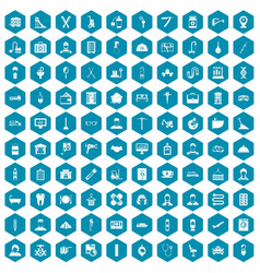 100 craft icons sapphirine violet vector