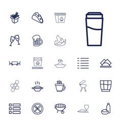 22 menu icons vector