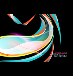 Abstract glossy colors curve scene vector