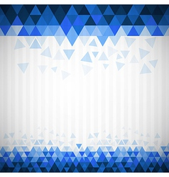 Abstract Retro Blue Triangle Background vector image