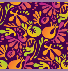 abstract tropical colorful floral seamless pattern vector image