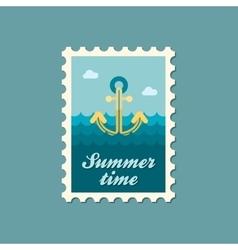 Anchor flat stamp summertime vector