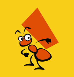 ant as a good builder simple drawing vector image