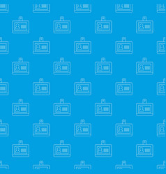 badge office pattern seamless blue vector image
