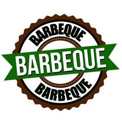 barbecue label or sticker vector image