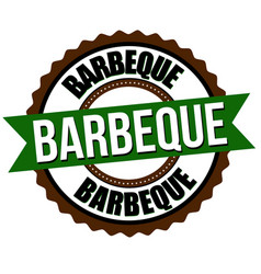 Barbeque label or sticker vector