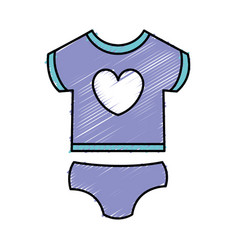 beautiful clothes baby vector image