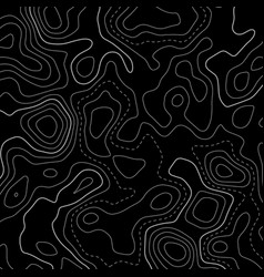 Black topographic map lines background vector