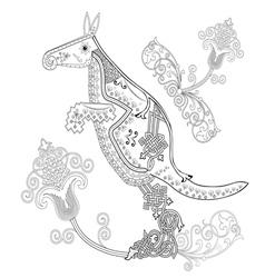 Braided kangaroo vector