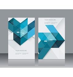 brochure template design witn blue geometrical vector image vector image