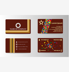 Business card design for print vector
