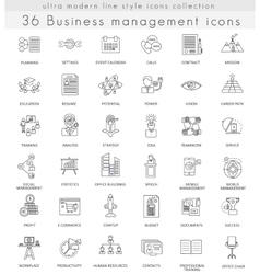 Business management ultra modern outline vector image