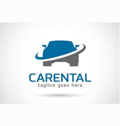 Car rental logo template design emblem design vector