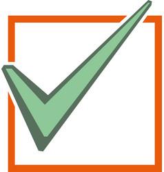 Check mark icon i vector