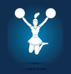 cheerleader jumping vector image