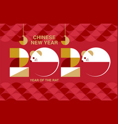 Chinese new year 2020 happy new year greetings vector