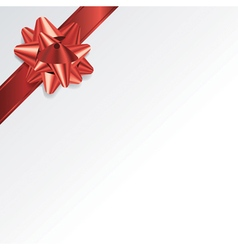 Christmas Present Background with Red Bow vector
