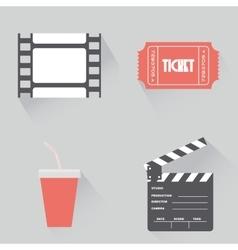 Cinema objects vector
