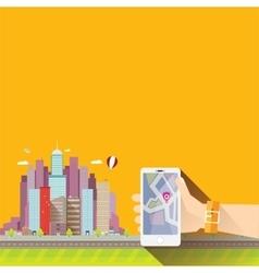 City internet navigation concept web banner vector