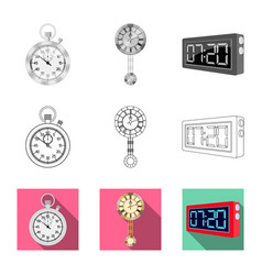 clock and time logo set of vector image