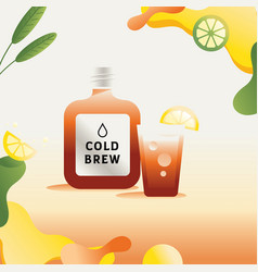 Colorful nitro cold brew vector