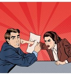 Conflict Between Businessman and Businesswoman vector