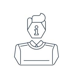 Consulting man flat icon logo concept vector