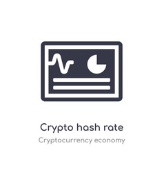 Crypto hash rate icon isolated crypto hash rate vector