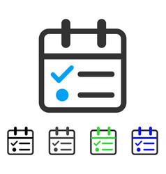 Day tasklist flat icon vector