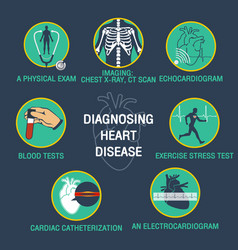 Diagnosing heart disease logo icon design vector