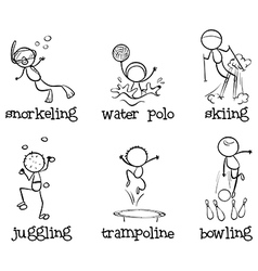 Different indoor and outdoor activities vector