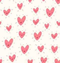Doodle hearts pattern vector image