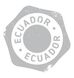 Ecuador stamp rubber grunge vector