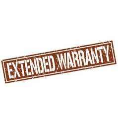 Extended warranty square grunge stamp vector